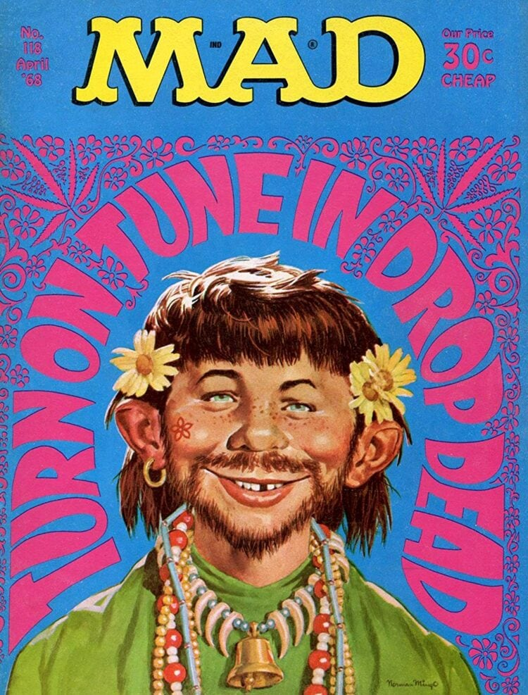 Mad Magazine April 1968 - Turn on - Tune in - Drop dead