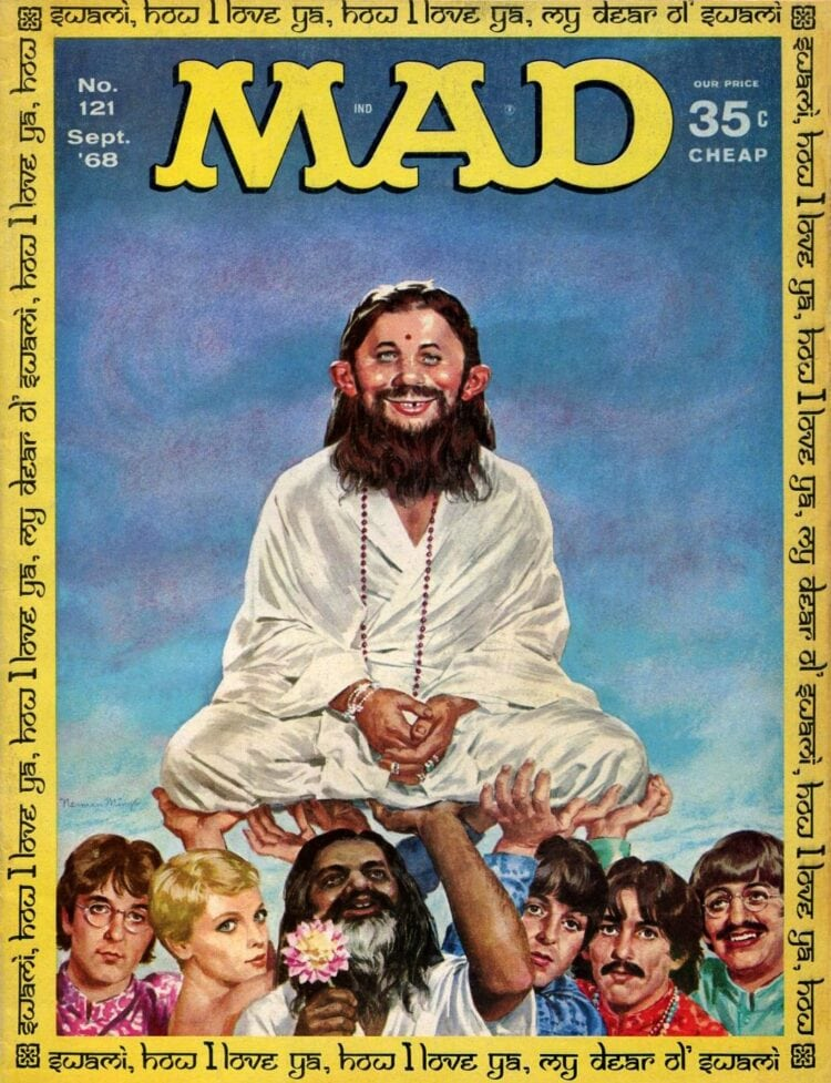 Mad Magazine - Beatles and hippies September 1968