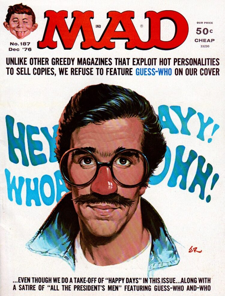 Mad Magazine - Fonzie - Happy Days - December 1976
