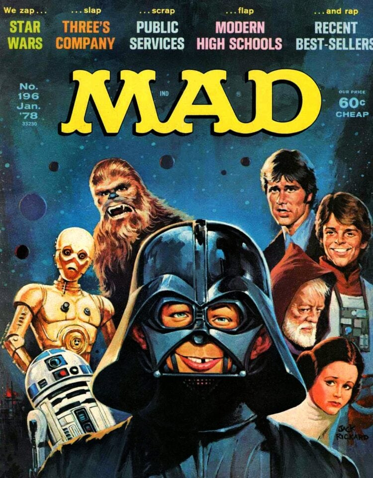 Vintage Mad Magazine - Star Wars January 1978