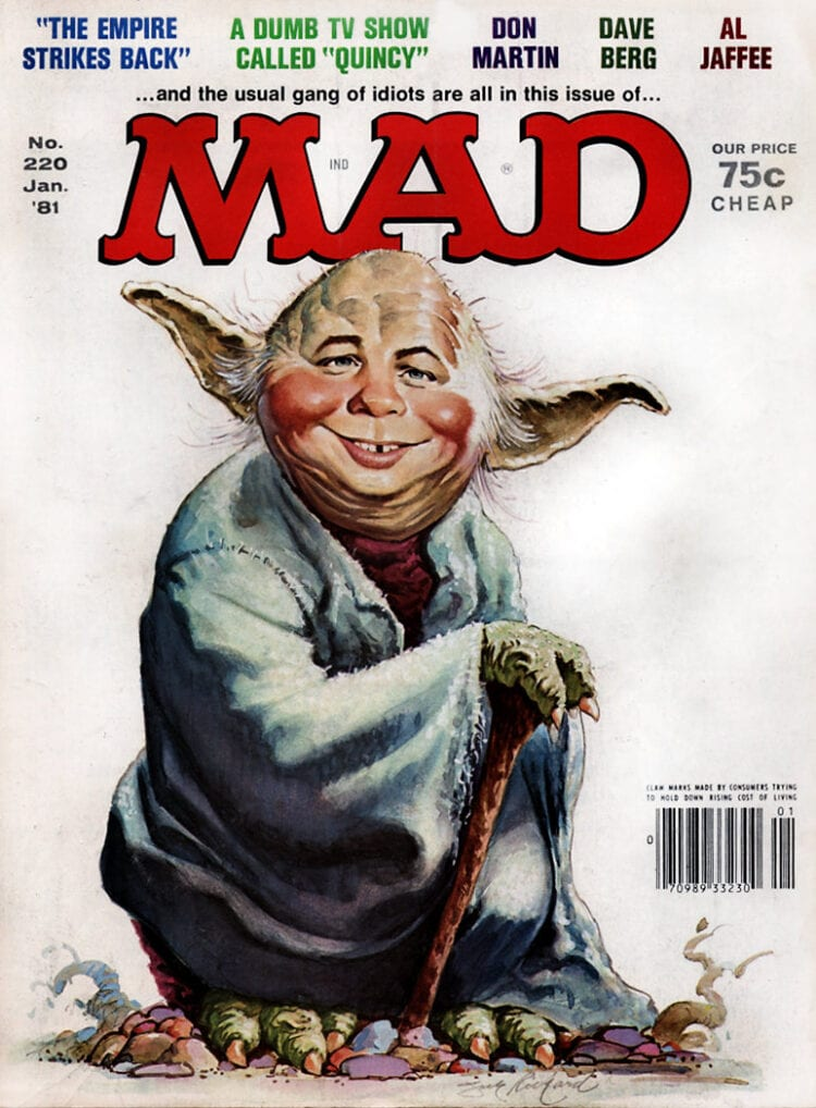 Classic Mad Magazine - Yoda/Star Wars - January 1981