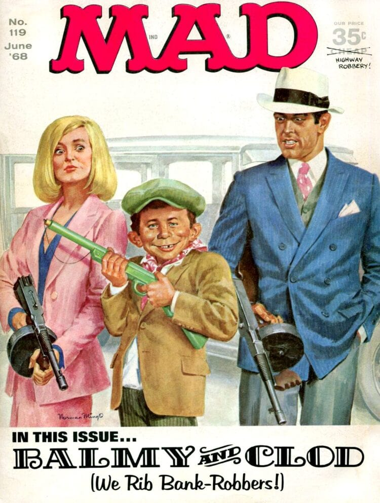 Vintage Mad magazine - June 1968 - Parody of Bonnie and Cyde movie