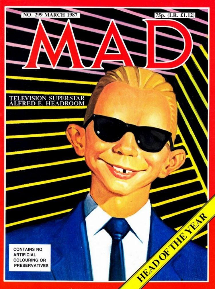 Mad magazine Max Headroom March 1987