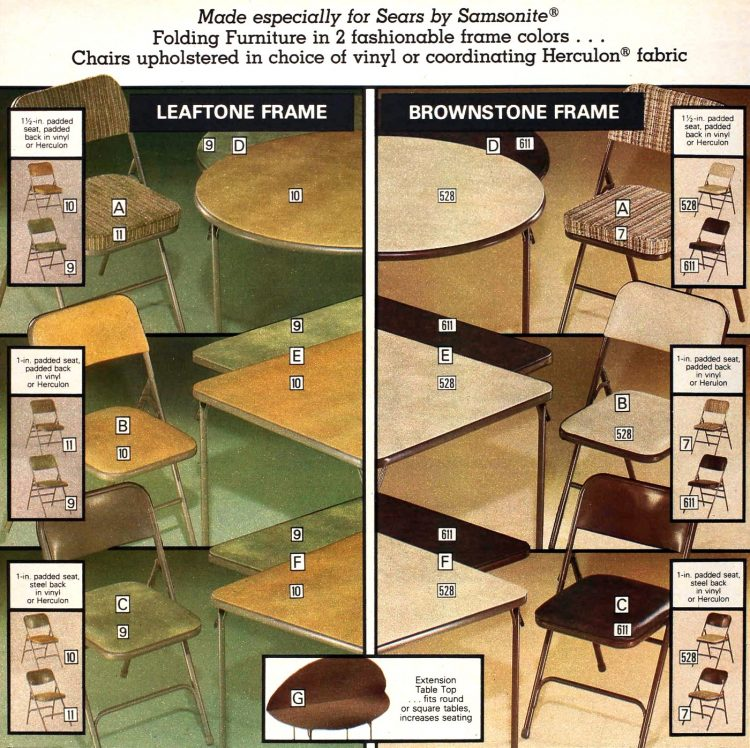 Made by Sears Samsonite Folding Furniture - 1979