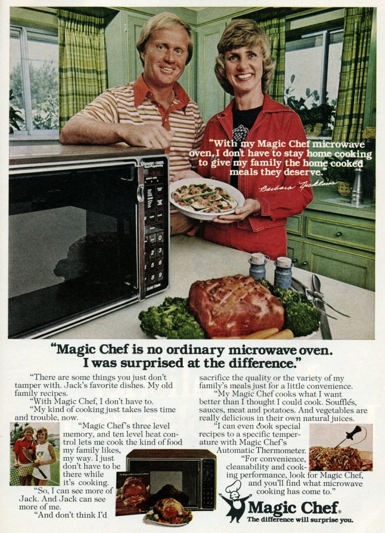 Magic Chef microwave from 1977 - with Jack Nicklaus