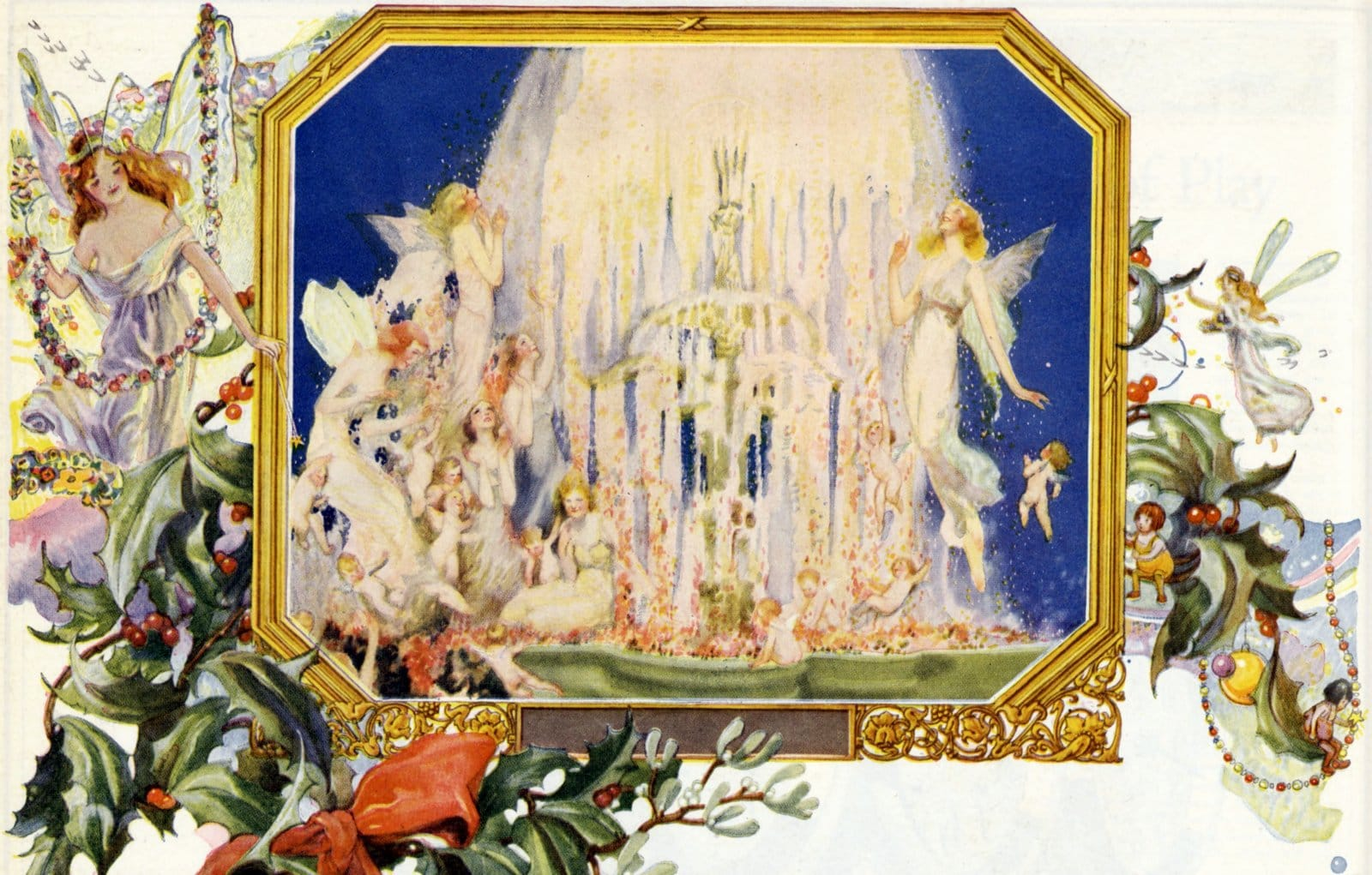 Magical fairies - Artwork from around 1920 at Click Americana