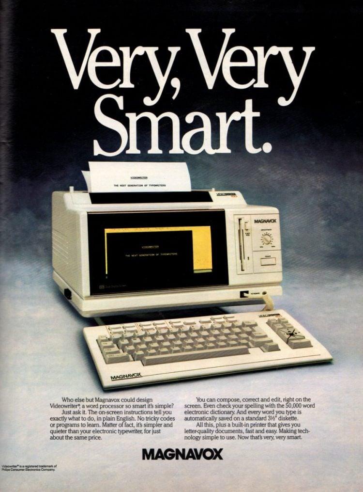 Magnavox 1988 Videowriter word processor