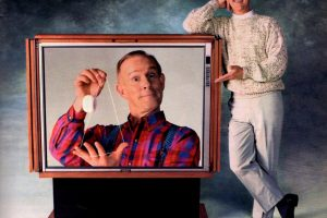 Magnavox big screen TV (with Smothers Brothers)