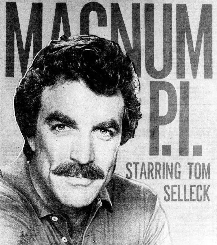 Magnum PI's Tom Selleck 1981