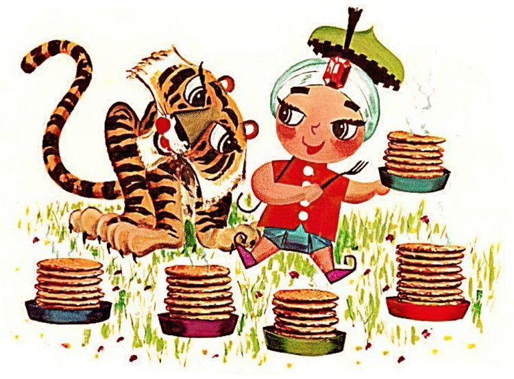 Main Sambo's mascot - Indian boy with pancakes