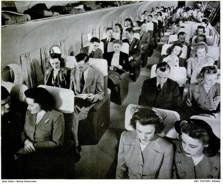 Main cabin - Boeing Stratocruiser - 1945