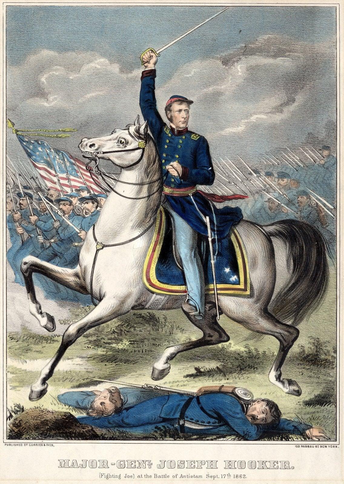 Major General Joseph Hooker (Fighting Joe) at the Battle of Antietam September 17 186.