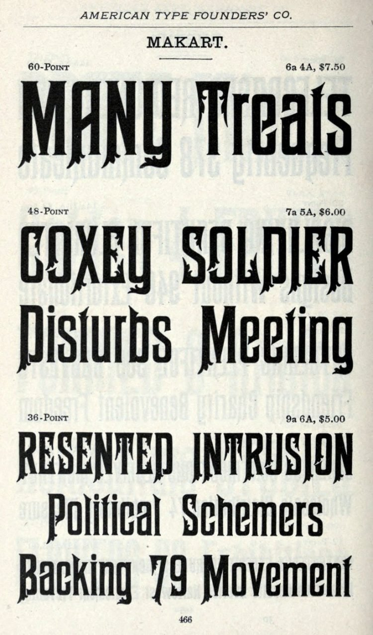 Makart typeface - Vintage font styles