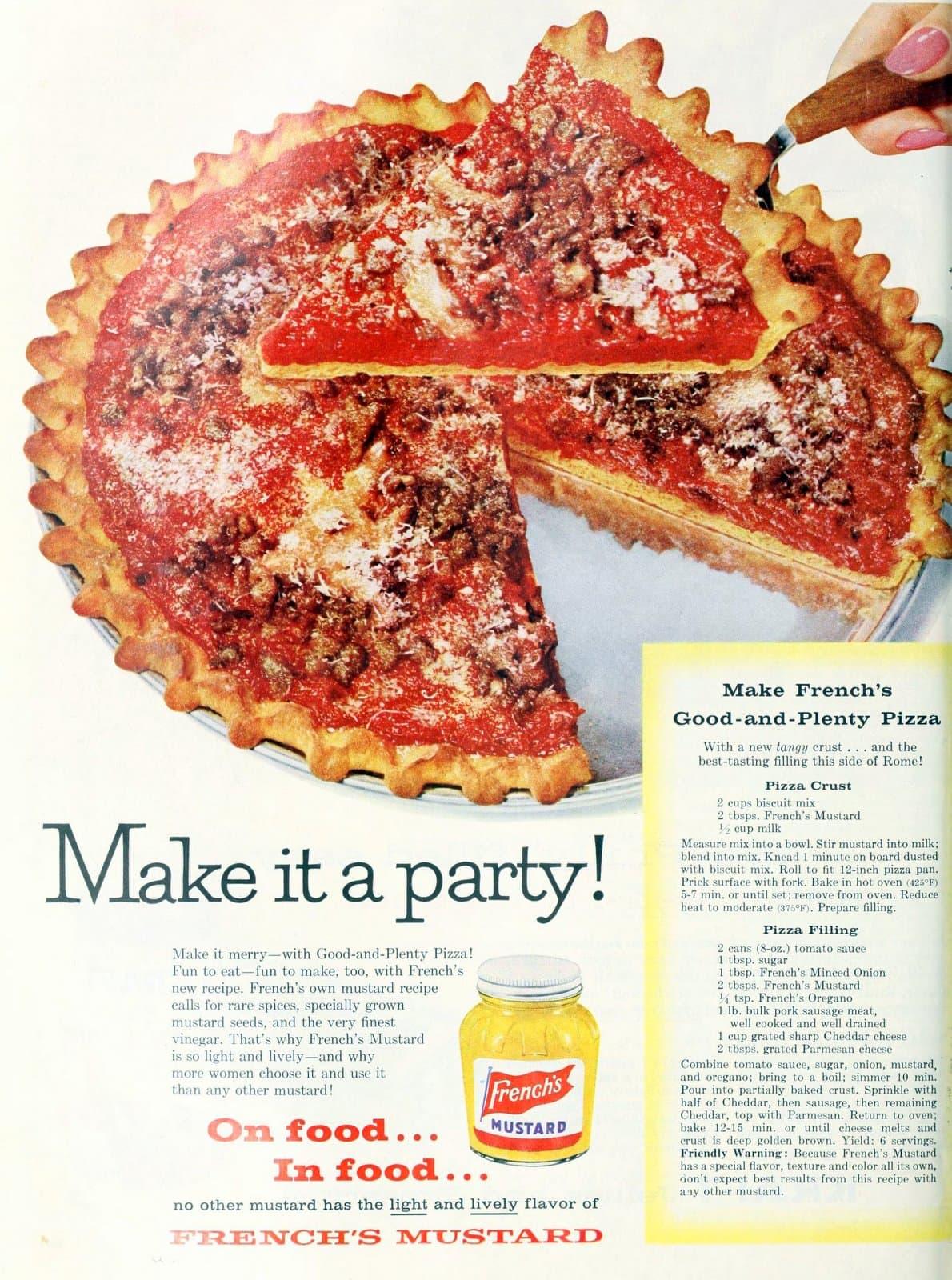 Make French's Good and Plenty Pizza (1958)