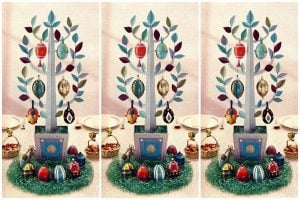 Make a beautiful Easter egg tree with this '50s how-to