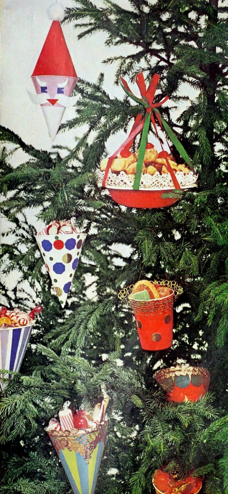 Make a sugar-plum tree A retro Christmas craft for the family