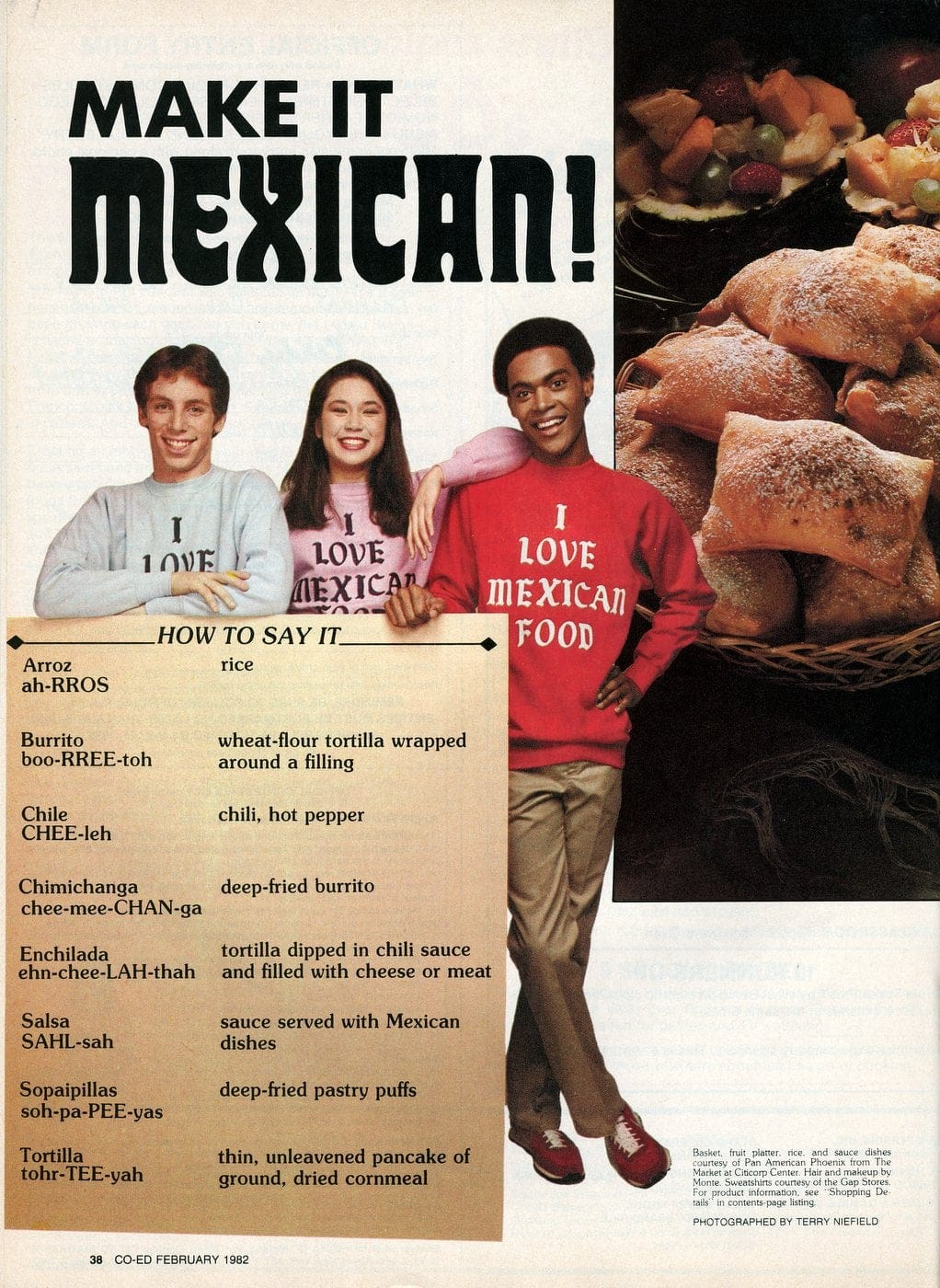 Make it Mexican - retro recipes from 1982 (2)