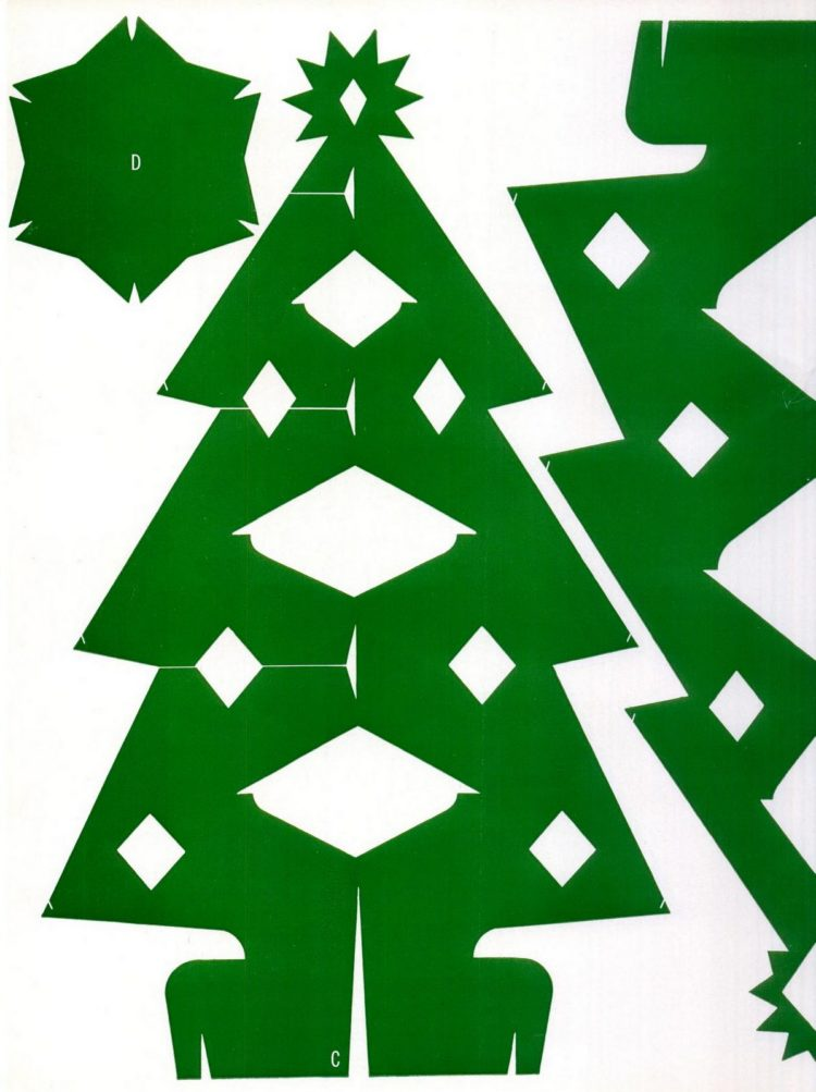 Make this Christmas tree craft project from 1950 (3)