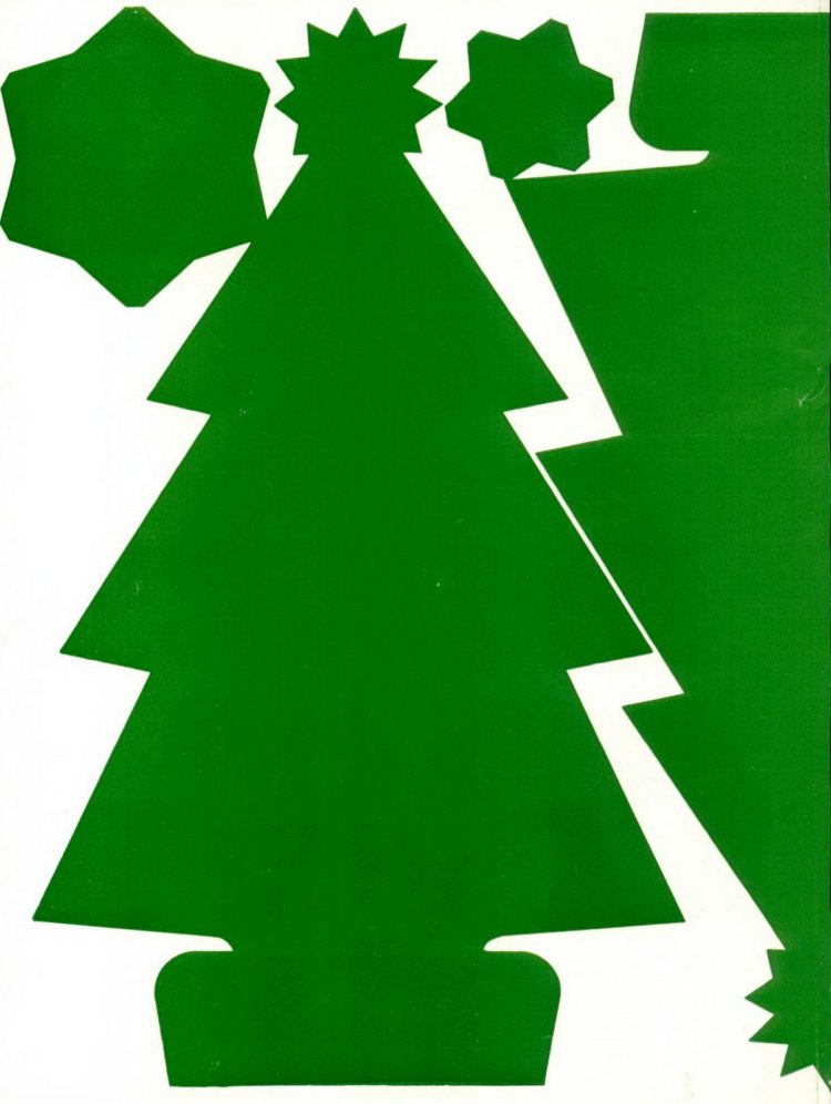 Make this Christmas tree craft project from 1950 (4)