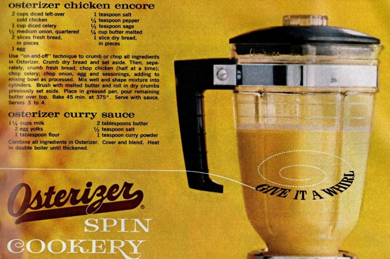 Make this chicken dinner with your blender (1964) - Osterizer spin cookery