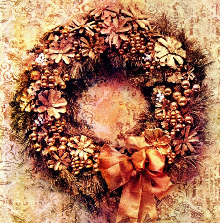 Make vintage-style handmade Christmas wreaths with this craft how-to from 1964 (1)