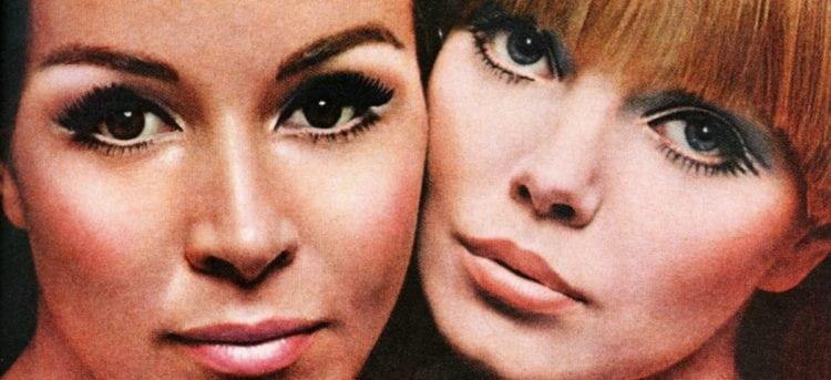 Makeup false eyelashes 1967