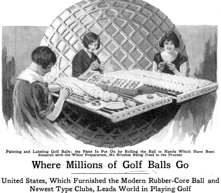 Making golf balls 1927