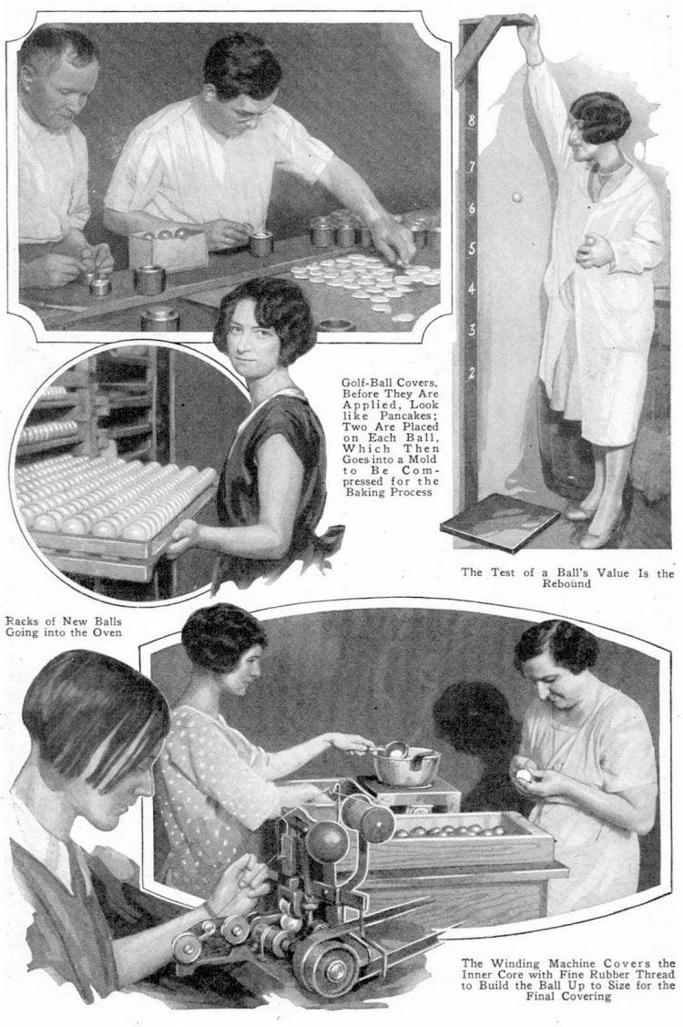 Making golf balls - Popular Mechanics Jun 1927