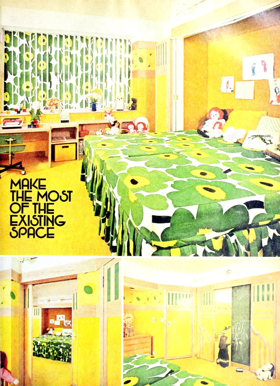 Making the most of existing space - Bedroom decor for two kids (1975)