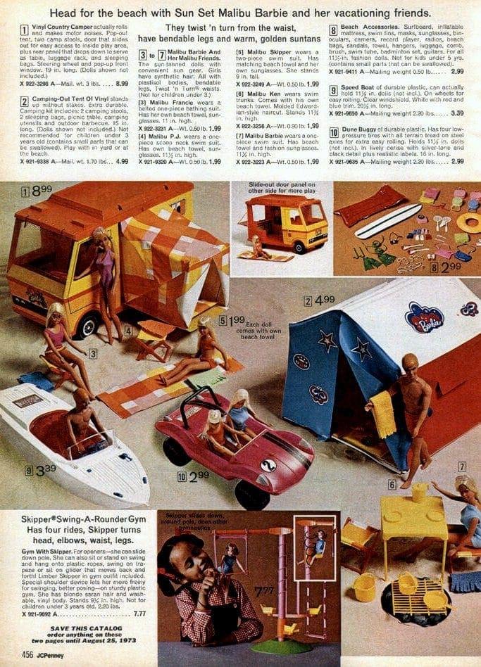 Malibu Barbie vintage ad from 1972
