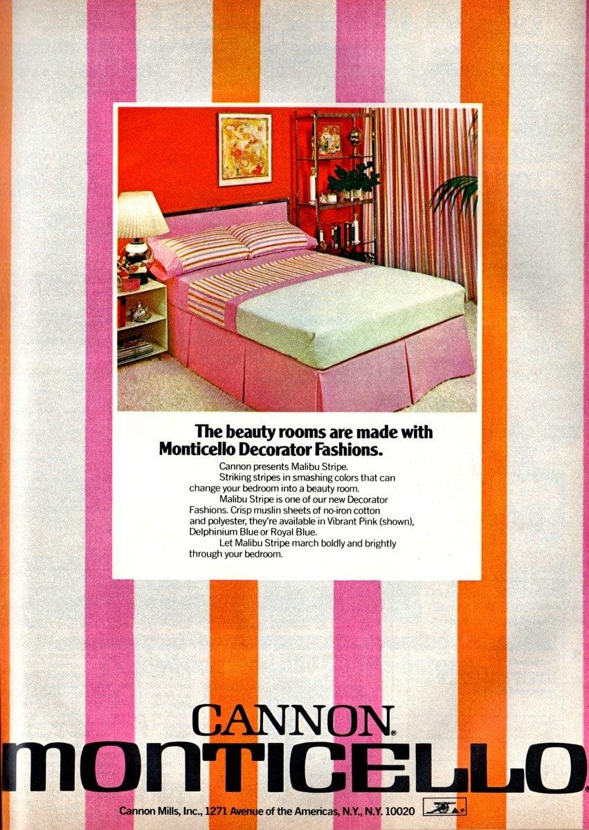 Malibu Stripe sheets in pink