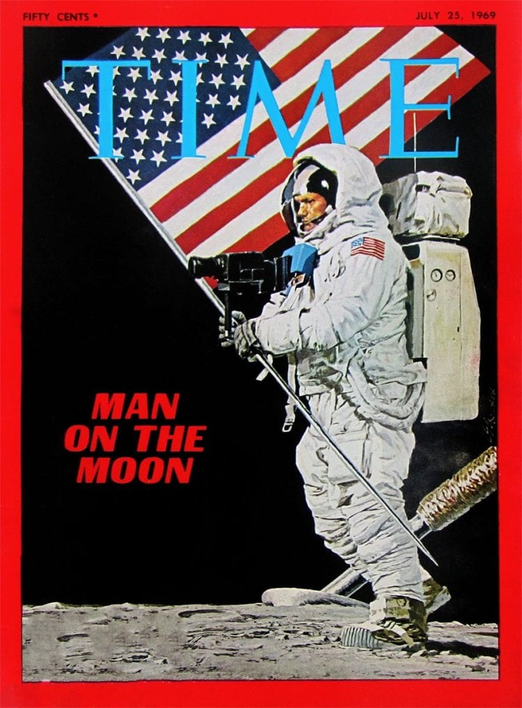 Man on the moon TIME 1969