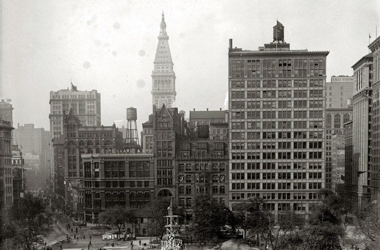 Union Square in 1917