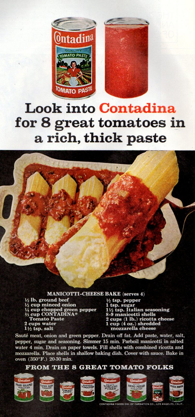 Manicotti-Cheese Bake (1968)