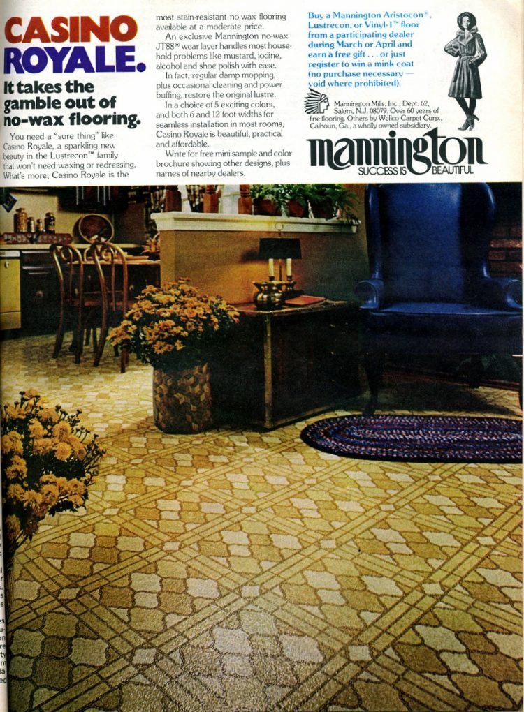 Mannington Casino Royale vintage flooring