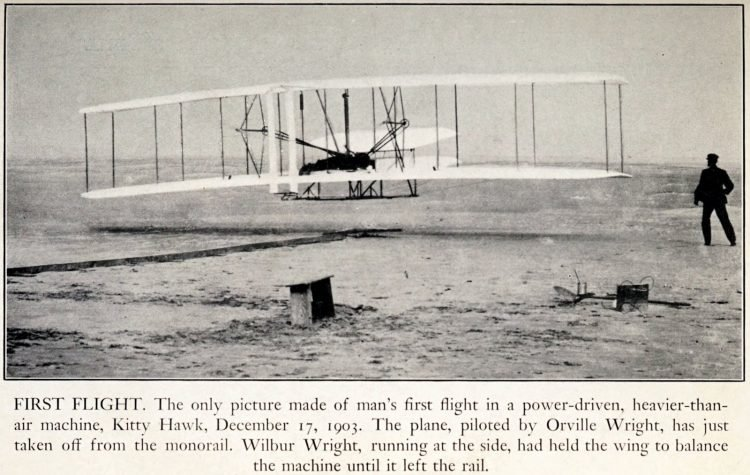 Man's first flight - December 17 1903 - Kitty Hawk - Wright Brothers