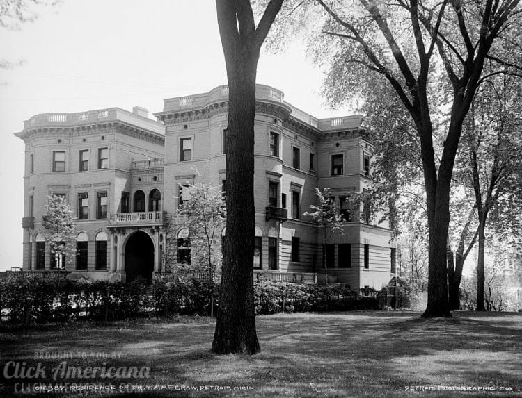 Mansion of Dr. T. A. McGraw, Detroit, Mich. c1900