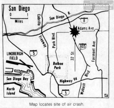 map-of-psa-182-crash-area-1978