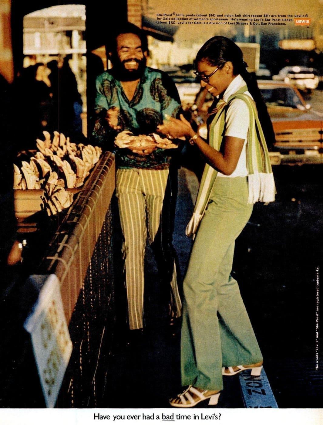 Mar 1970 Levi's fashion clothing