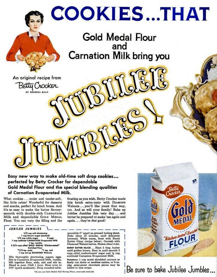 Mar 7, 1955 - Vintage cookies - Jubilee Jumbles