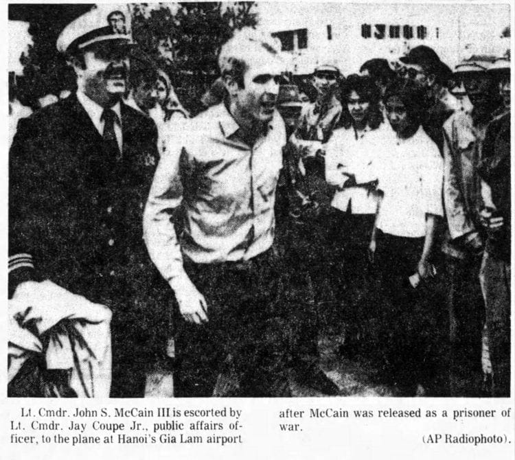 March 14 1973 - John McCain - Hanoi