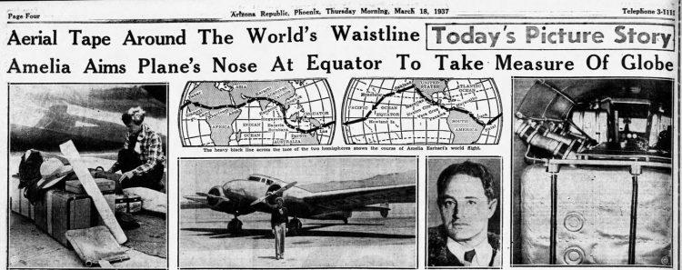 March 18 1937 - Amelia Earhart starts her last adventure