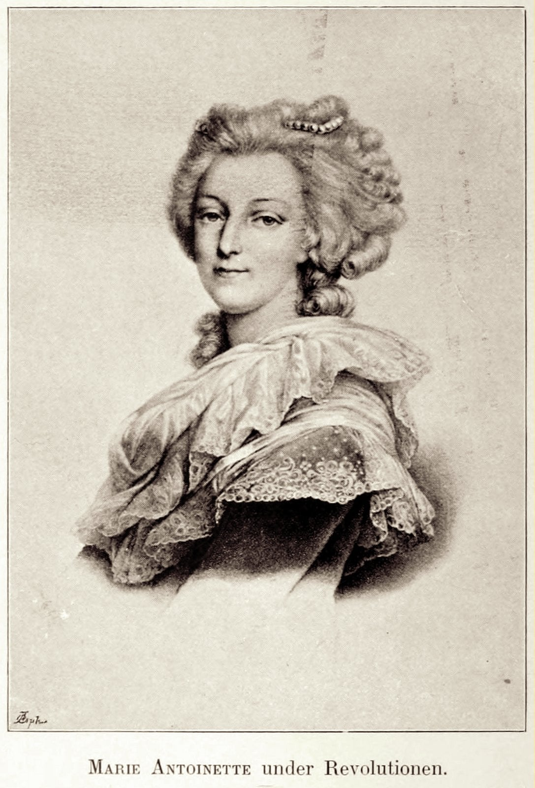 Marie Antoinette in a dress