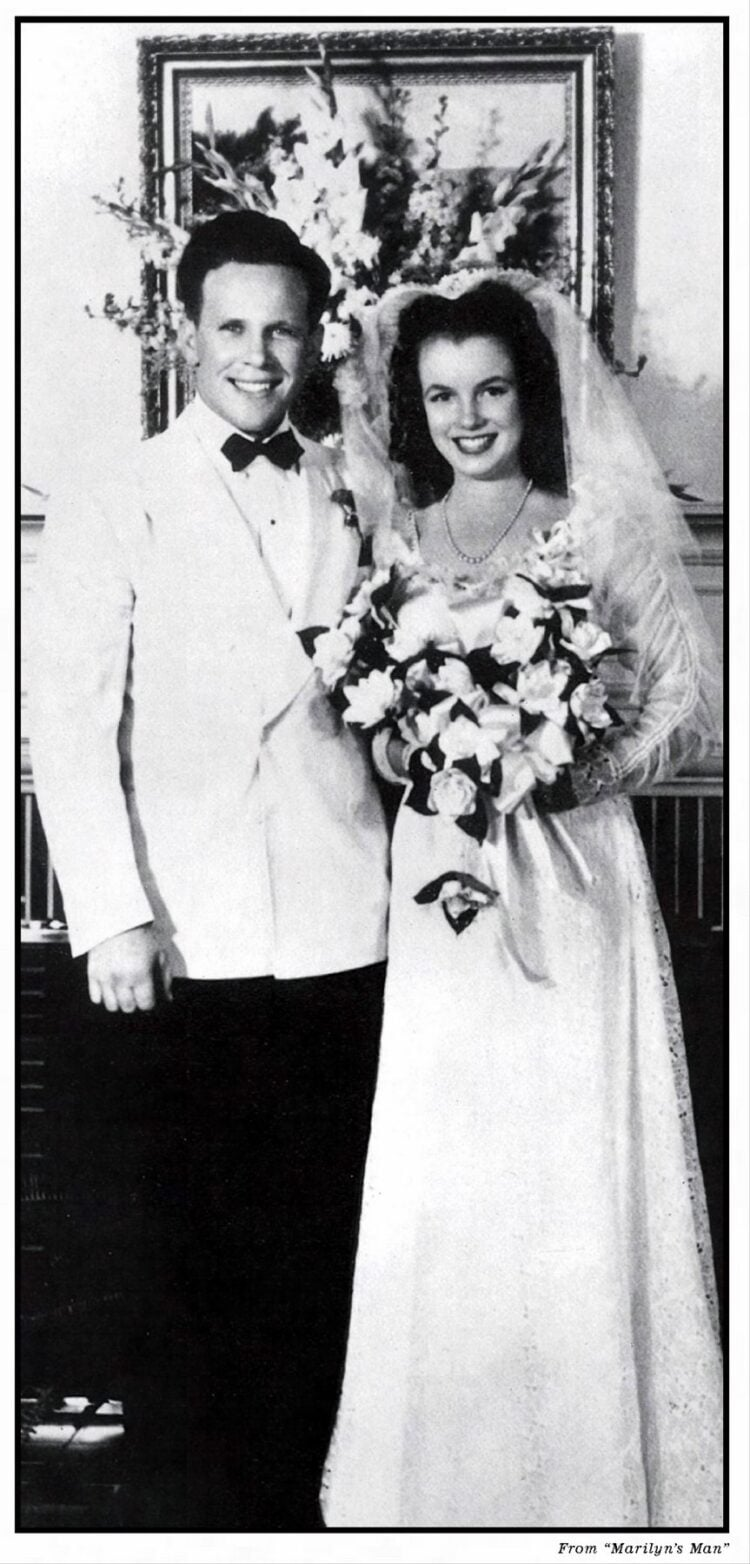 Marilyn Monroe's first husband, James Dougherty wedding photo 1942