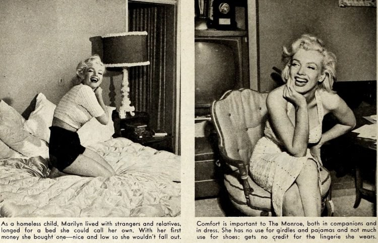 Marilyn home 1950s