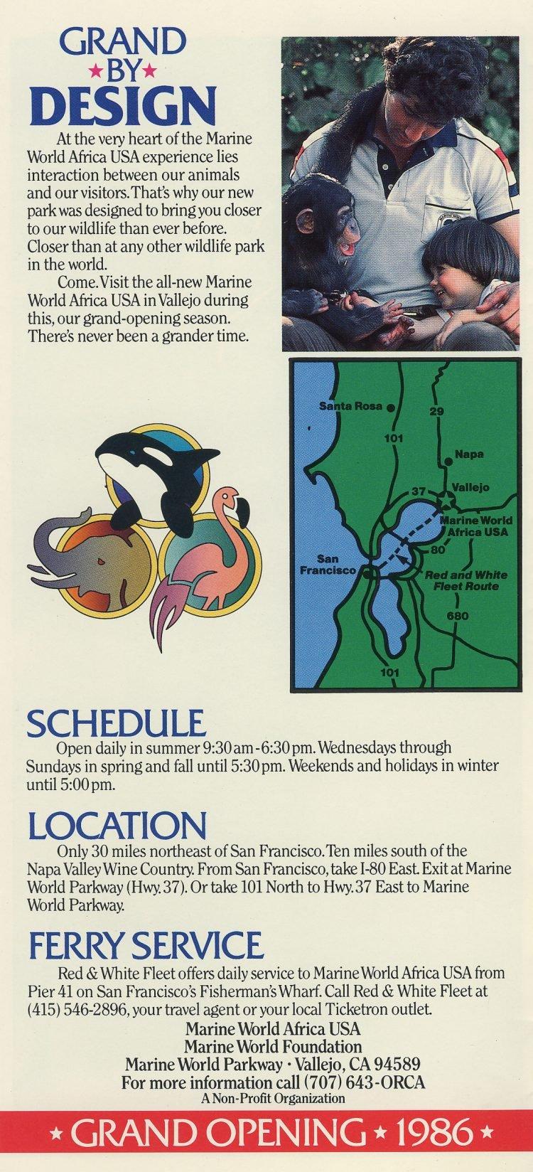 Marine World Africa USA - Grand Opening brochure 1986 (5)