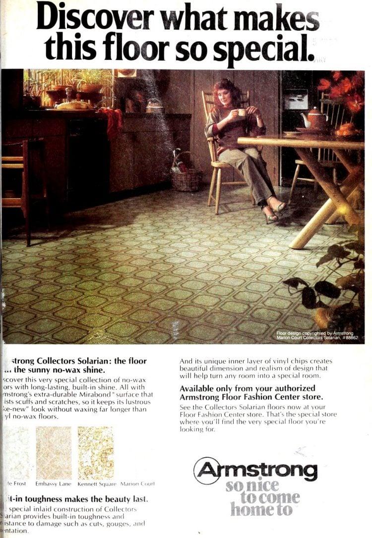 Marion Court vintage vinyl flooring pattern