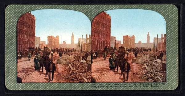 Color photos of the 1906 quake aftermath
