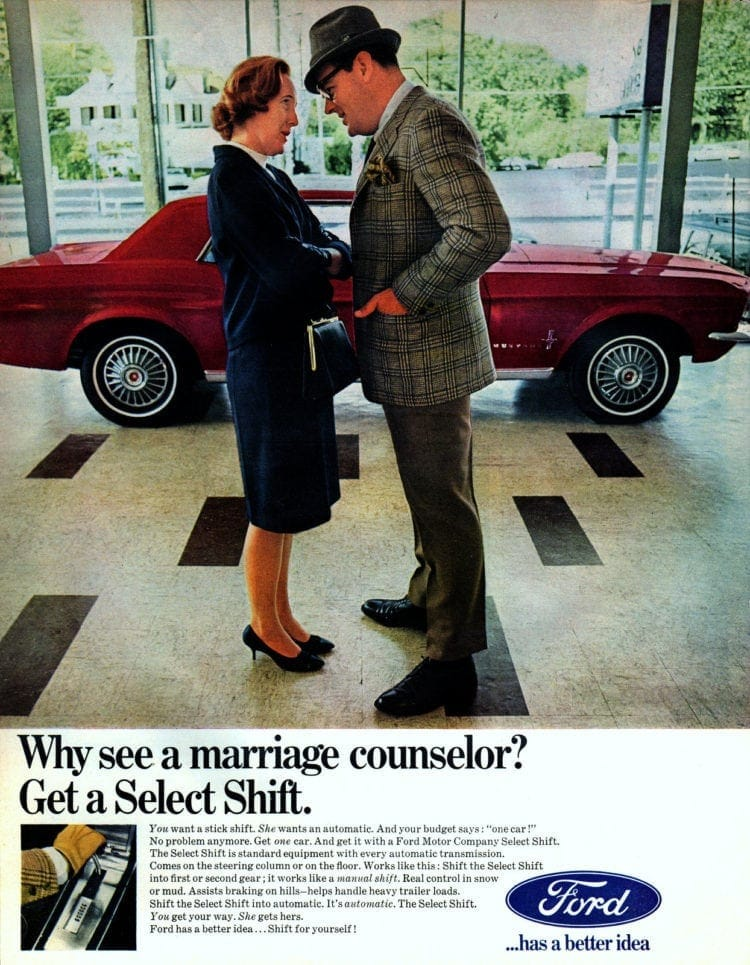 Marriage counselor or Ford Select Shift (1967)