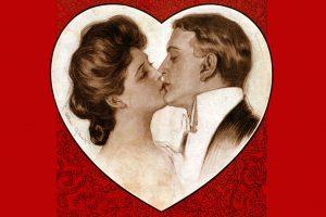 Married couple kiss 1904